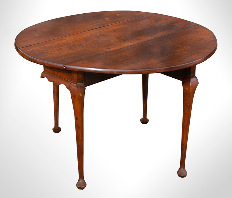 Small Queen Anne Drop Leaf Table, Northshore Massachusetts, entire view 2