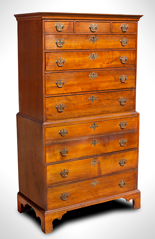 18th Century New England Chest-on-Chest, entire view 2
