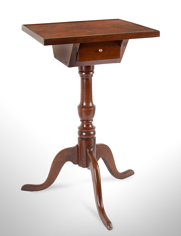 Candlestand with Candle Drawer, Hartford, Connecticut, entire view
