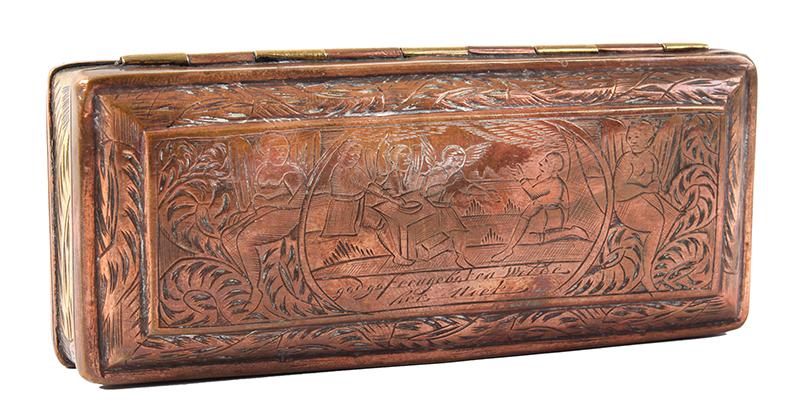 Tobacco Box, Dutch, Engraved, entire view 1