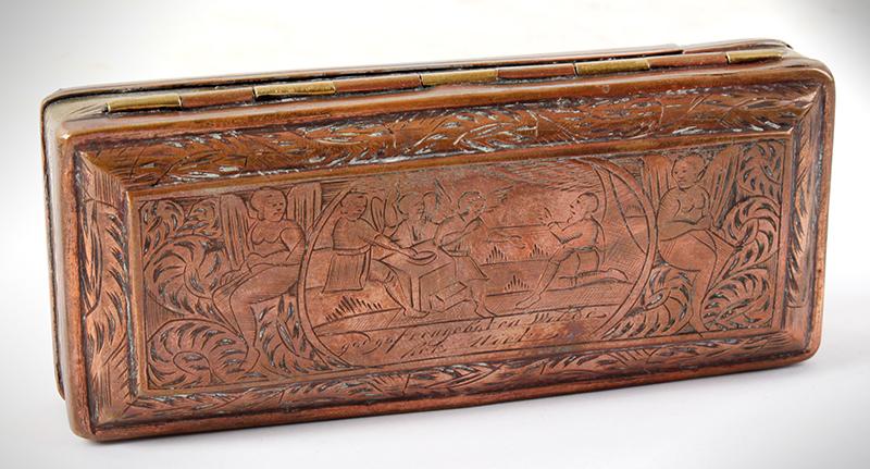 Tobacco Box, Dutch, Engraved, entire view 2