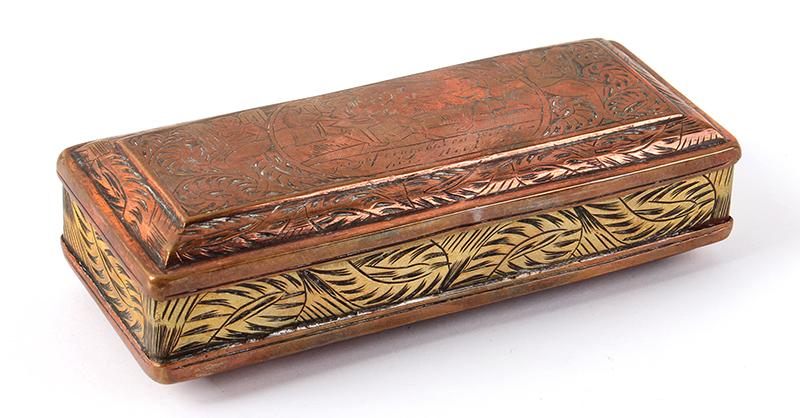 Tobacco Box, Dutch, Engraved, entire view 3