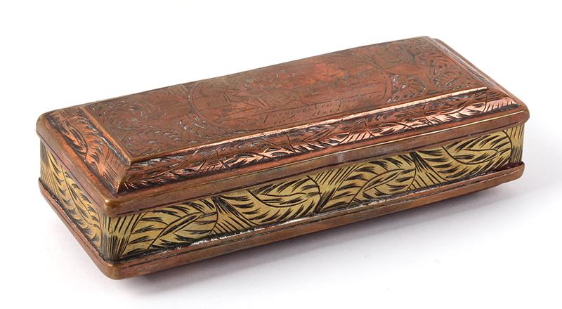 Tobacco Box, Dutch, Engraved, entire view 4
