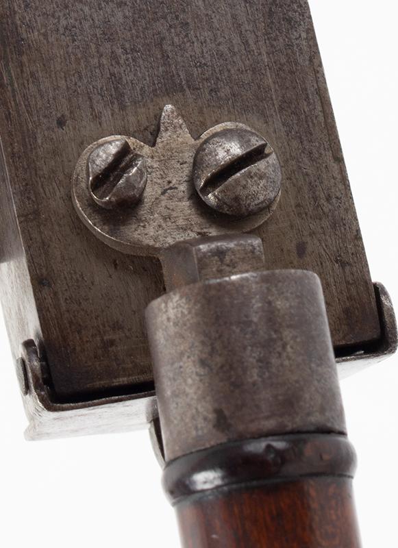Flintlock Tinder Lighter, Pistol, Turned Grip, Tinder Compartment, detail