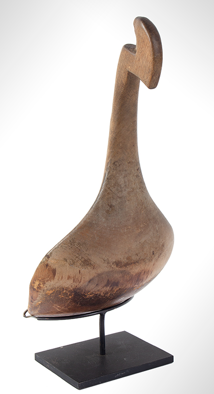 Native American Carved Wooden Effigy Ladle, Scoop, Beaver Great Lakes or Prairie, entire view 3