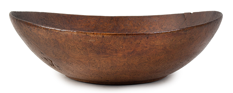 Burl Bowl, Nearly paper Thin, Great Color & Patina New England, entire view 2