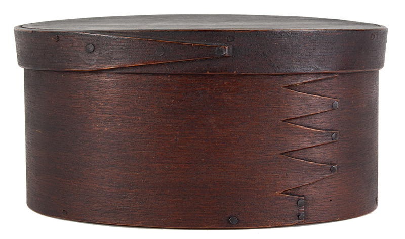 Oval Fingered Pantry Spice Boxes, Original Paint, Inscribed, spice view 1