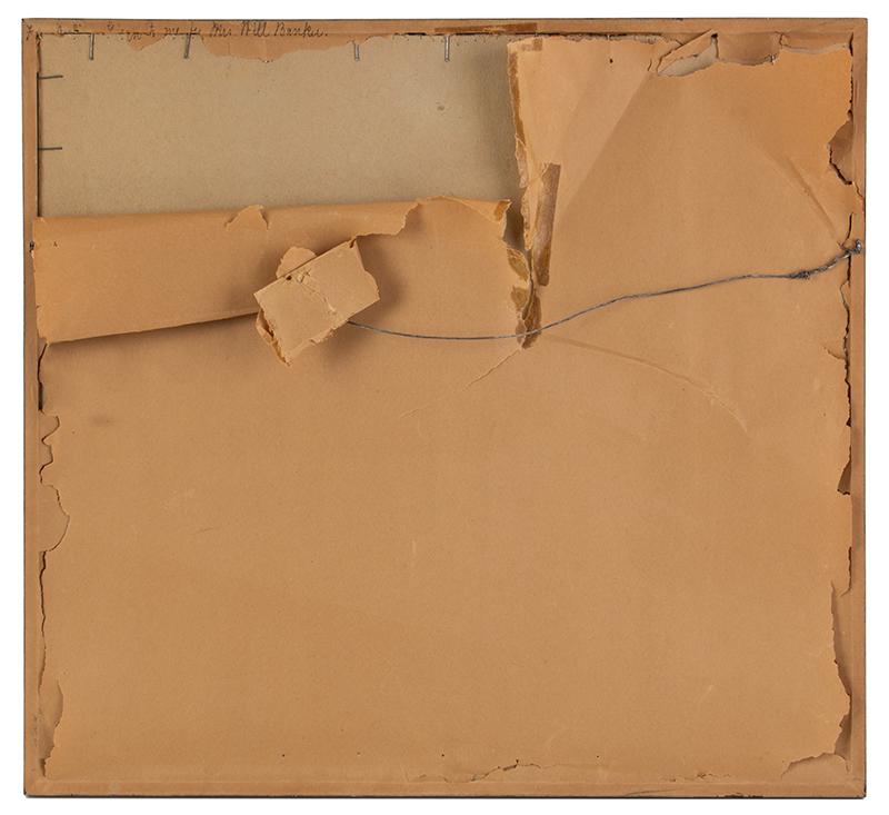 Sampler, Plattsburg, New York, 1828, Della Ann Holcomb, back view