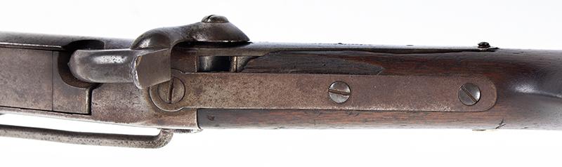 Burnside Carbine by the Burnside Rifle Company, 54 Caliber percussion Breechloader  Designed by Ambrose Burnside, Treasurer & Partner of Bristol Firearms Company, tang