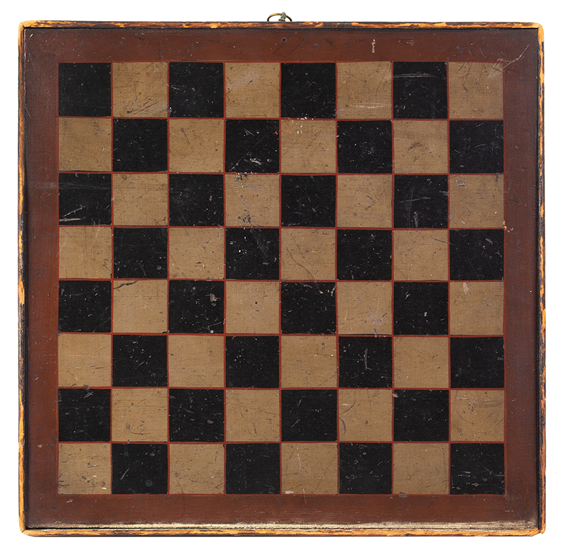 Antique Gameboard, Four Color, Square Nailed Moldings, entire view 1