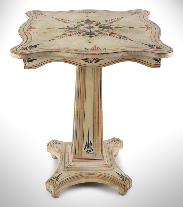 A Fine Country Classical Paint Decorated Center Table, Exquisite Design New England, Possibly Maine, entire view 2