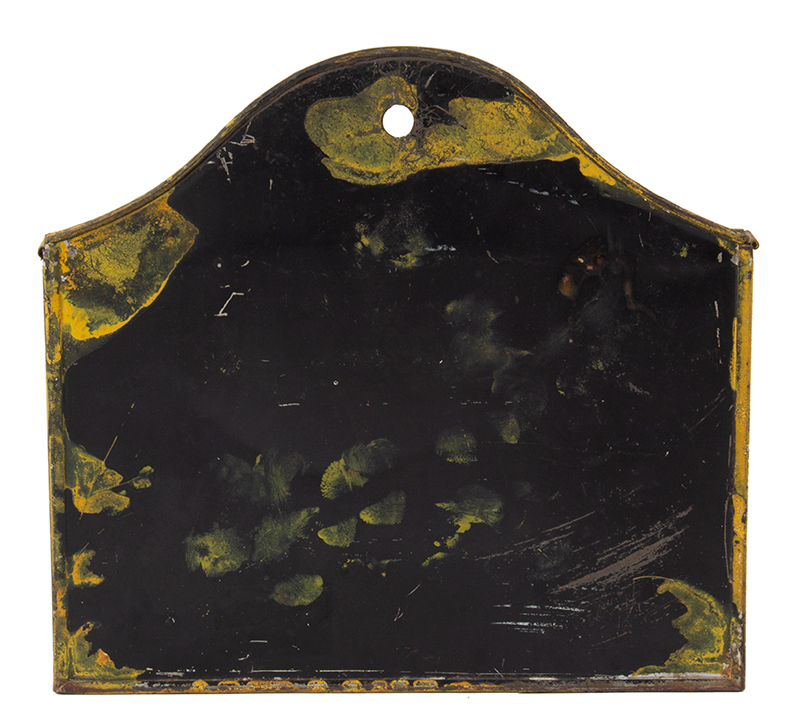 Wall Hanging Letter Box Lettered – BILL HEADS, Original Mustard Yellow Paint, entire view 3