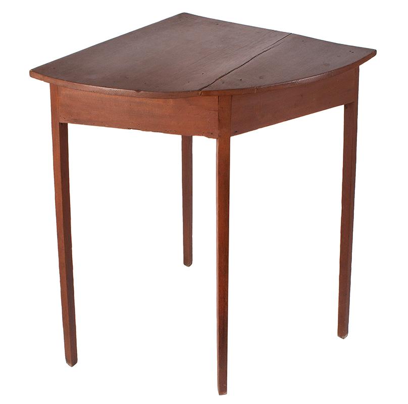 19th Century Hepplewhite Demilune Corner Table, entire view