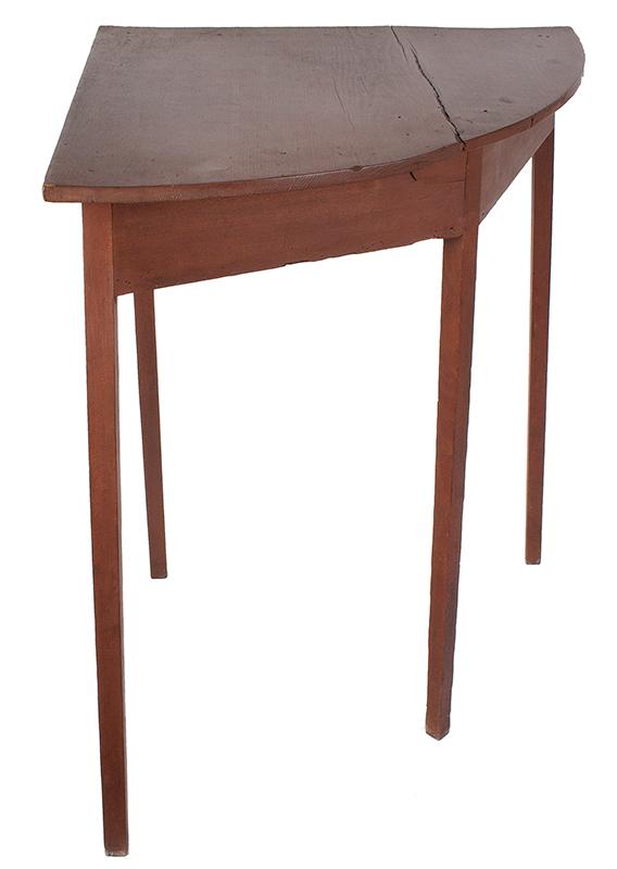 19th Century Hepplewhite Demilune Corner Table, entire view 2