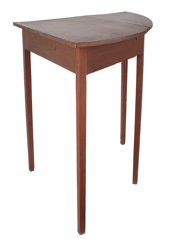 19th Century Hepplewhite Demilune Corner Table, entire view 3