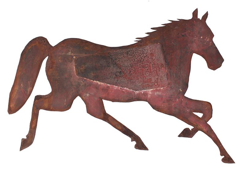 Nineteenth Century Sheet Iron Running Horse Weathervane, Guaranteed Period, side 1