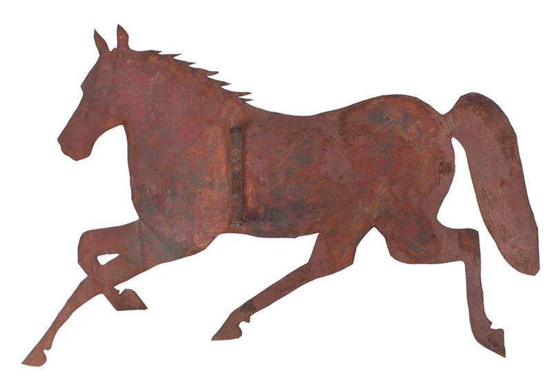 Nineteenth Century Sheet Iron Running Horse Weathervane, Guaranteed Period, side 2
