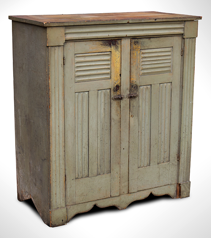 Antique Jelly Cupboard, Molded, Good painted Surface New York, Possibly Mohawk Valley, entire view 1