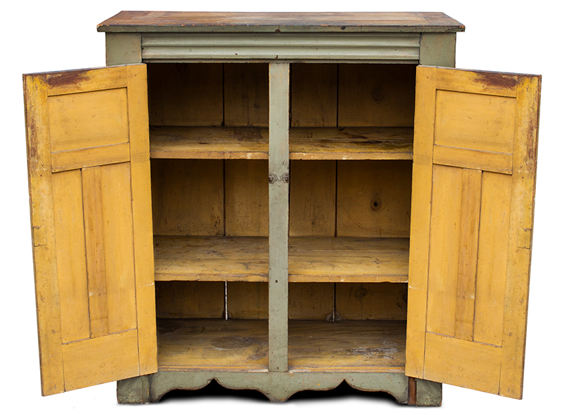 Antique Jelly Cupboard, Molded, Good painted Surface New York, Possibly Mohawk Valley, entire view 2