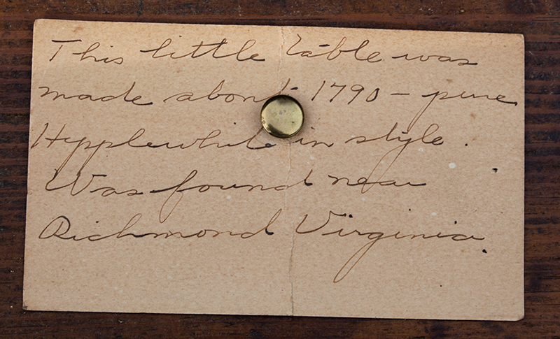 Southern Pembroke Table, Drop Leaf with Drawer, Original Brass, granny note