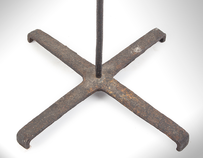 Candlestand, Wrought Iron, Floor Standing, Three Sockets, Flambeau, base view