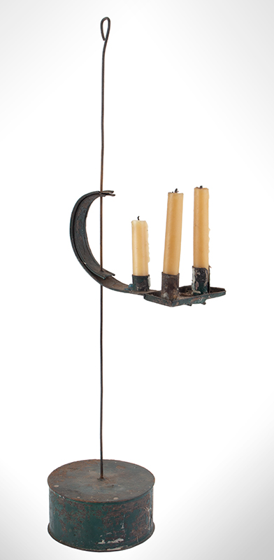 Sand Weighted Adjustable Candlestand, For Shop of Office, Adjustable Arm Three nozzles within crimped pan having candle stub ejection slits…, entire view 1