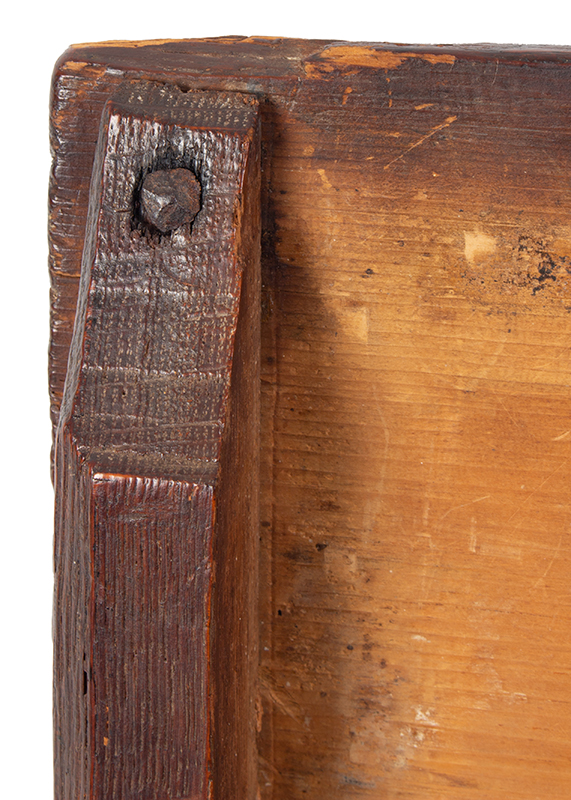 A Carved Pilgrim Period Bible Box, Windsor Area, Connecticut, detail 7