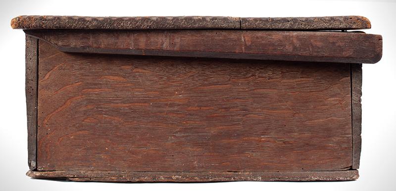 A Carved Pilgrim Period Bible Box, Windsor Area, Connecticut, side 1