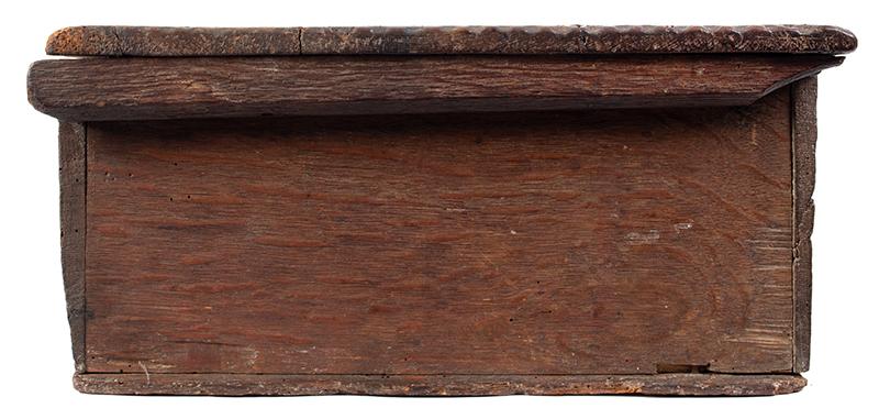 A Carved Pilgrim Period Bible Box, Windsor Area, Connecticut, side 2