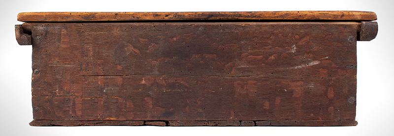 A Carved Pilgrim Period Bible Box, Windsor Area, Connecticut, back view