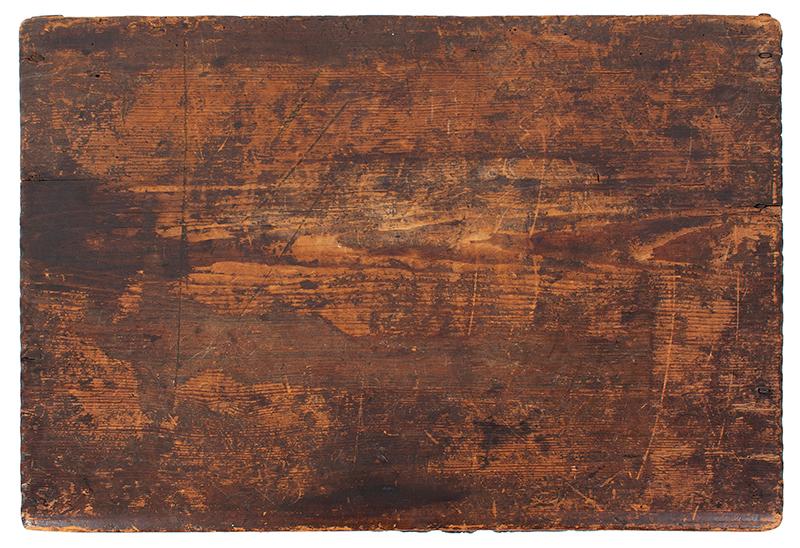 A Carved Pilgrim Period Bible Box, Windsor Area, Connecticut, top