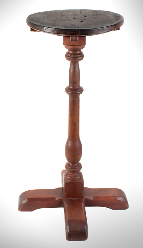 Candlestand, X-Base, Red Paint, Pennsylvania, entire view 1