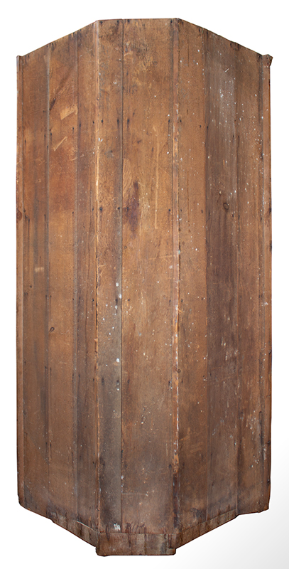 18th Century Corner Cupboard, 24 Lights, Blue Painted Interior Found years ago, in the Mohawk Valley of New York, back view