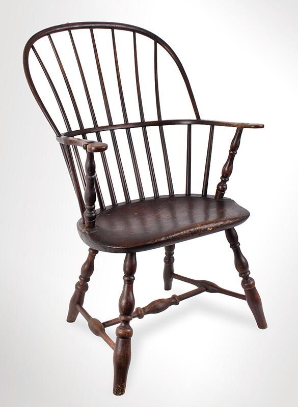 Antique, Windsor Sack Back Armchair, Rhode Island, entire view 1