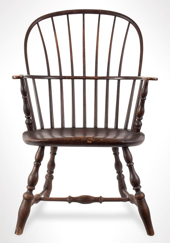Antique, Windsor Sack Back Armchair, Rhode Island, entire view 3