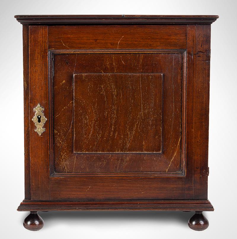18th Century Spice Cabinet, Cupboard on Ball Feet, Walnut, England, entire view 1