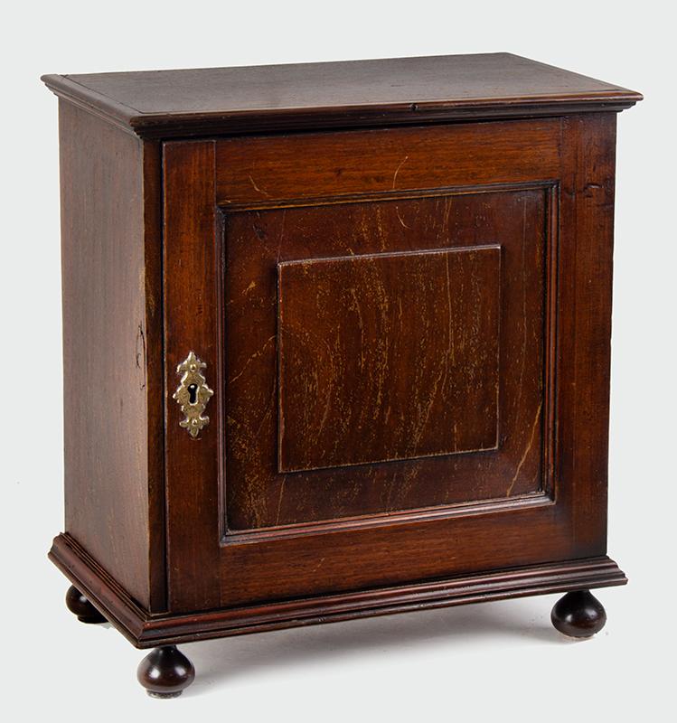 18th Century Spice Cabinet, Cupboard on Ball Feet, Walnut, England, entire view 4