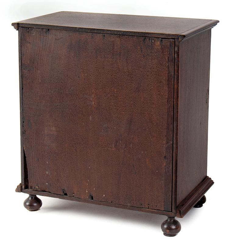 18th Century Spice Cabinet, Cupboard on Ball Feet, Walnut, England, back view