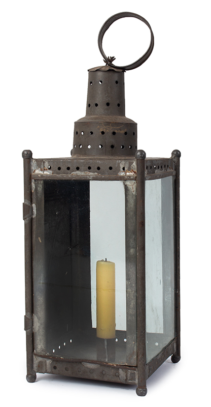 Antique Candle Lantern, New England, entire view 2