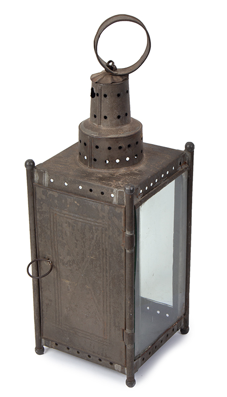 Antique Candle Lantern, New England, entire view 3
