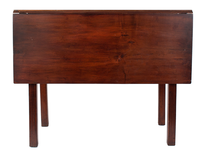 18th Century Chippendale Table, Square Molded Legs, Great Color, entire view 1