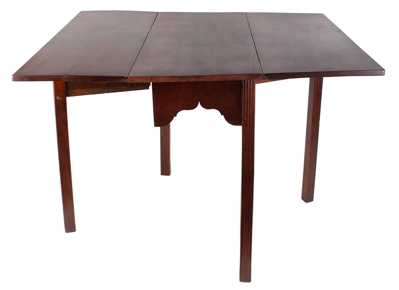 18th Century Chippendale Table, Square Molded Legs, Great Color, entire view 4