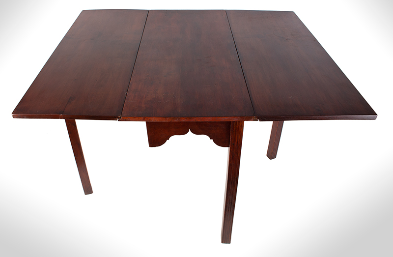 18th Century Chippendale Table, Square Molded Legs, Great Color, entire view 5