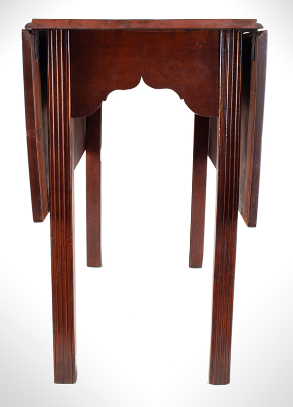 18th Century Chippendale Table, Square Molded Legs, Great Color, entire view 6