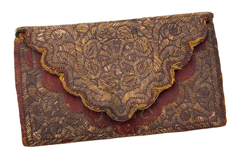 Wallet, Embroidered Metallic Thread, Thomas Revell, entire view