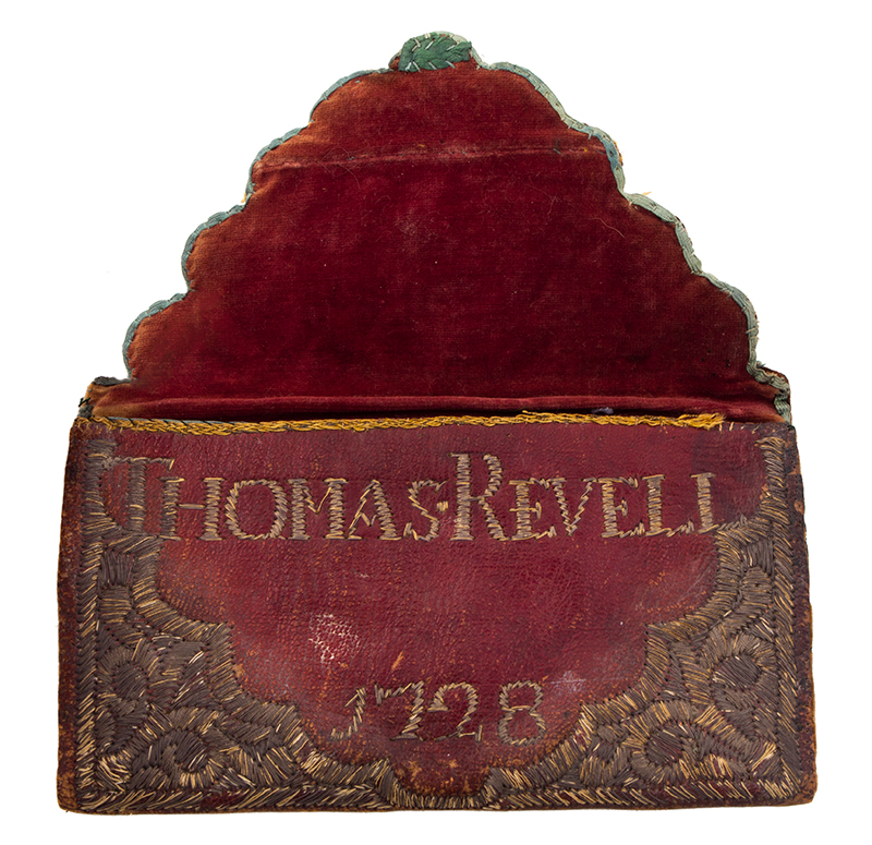 Wallet, Embroidered Metallic Thread, Thomas Revell, entire view 2