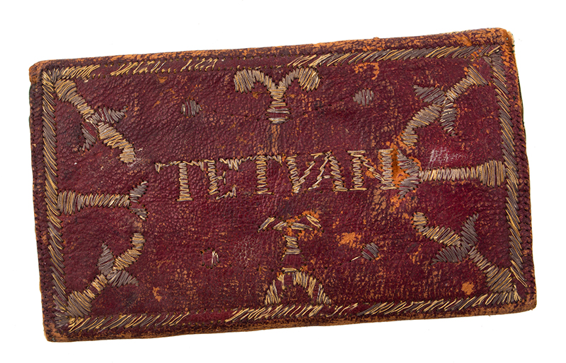 Wallet, Embroidered Metallic Thread, Thomas Revell, entire view 3