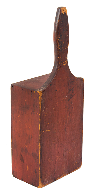 Offering Box, Church Collection Box, Original Red paint, Dry Patina American, entire view 3