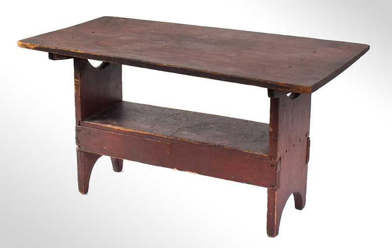 A Rare Child's Hutch Table, Painted Chair Table, entire view 1
