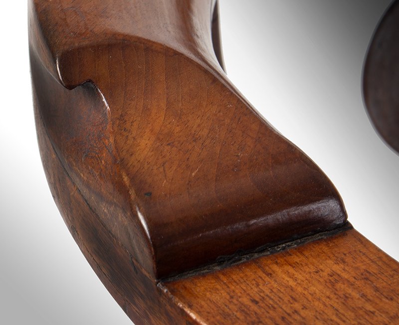 Chippendale Corner Chair, Ball & Claw Cabriole Front Leg Massachusetts, likely Boston, or Salem, detail view 2